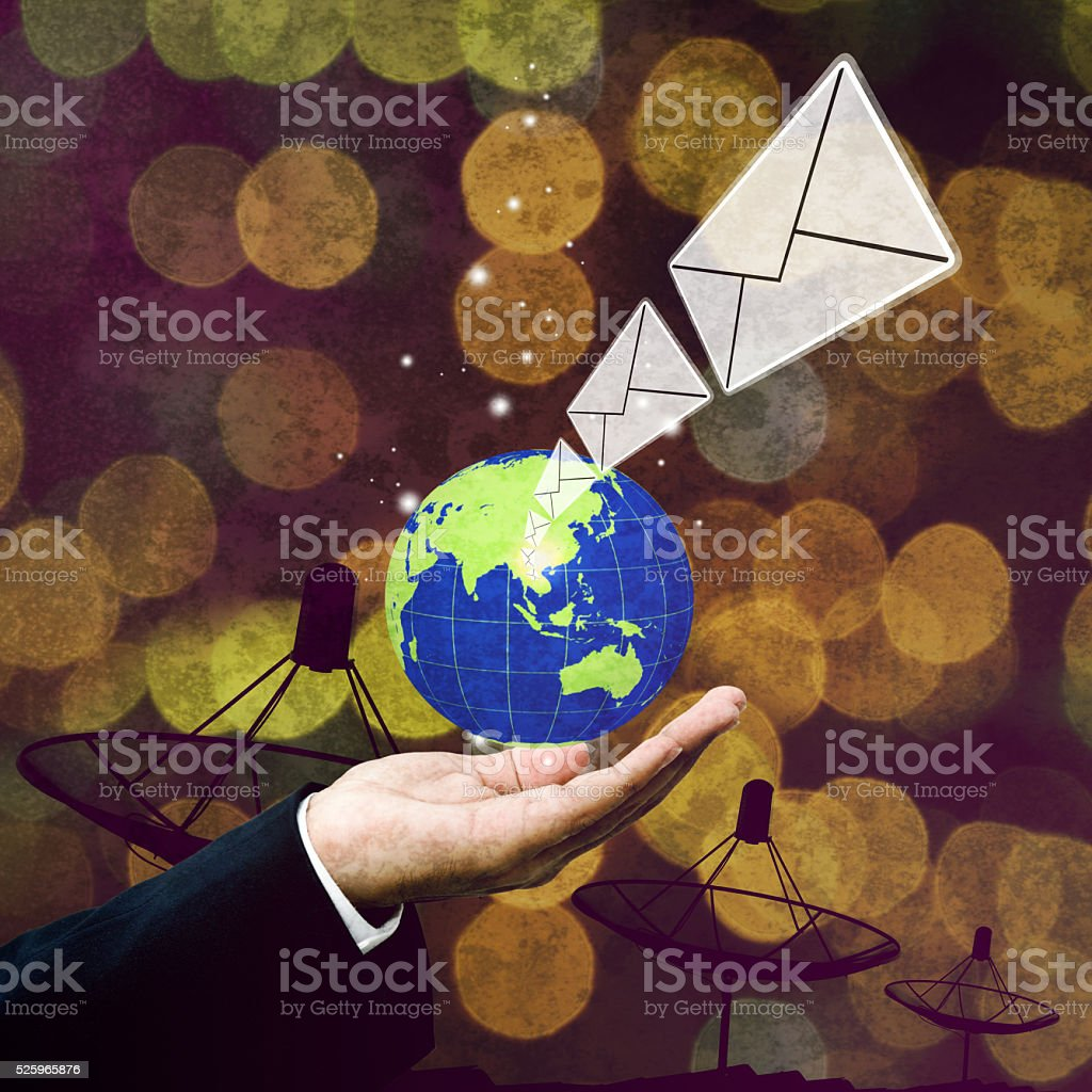 Email technology, Communication concept stock photo