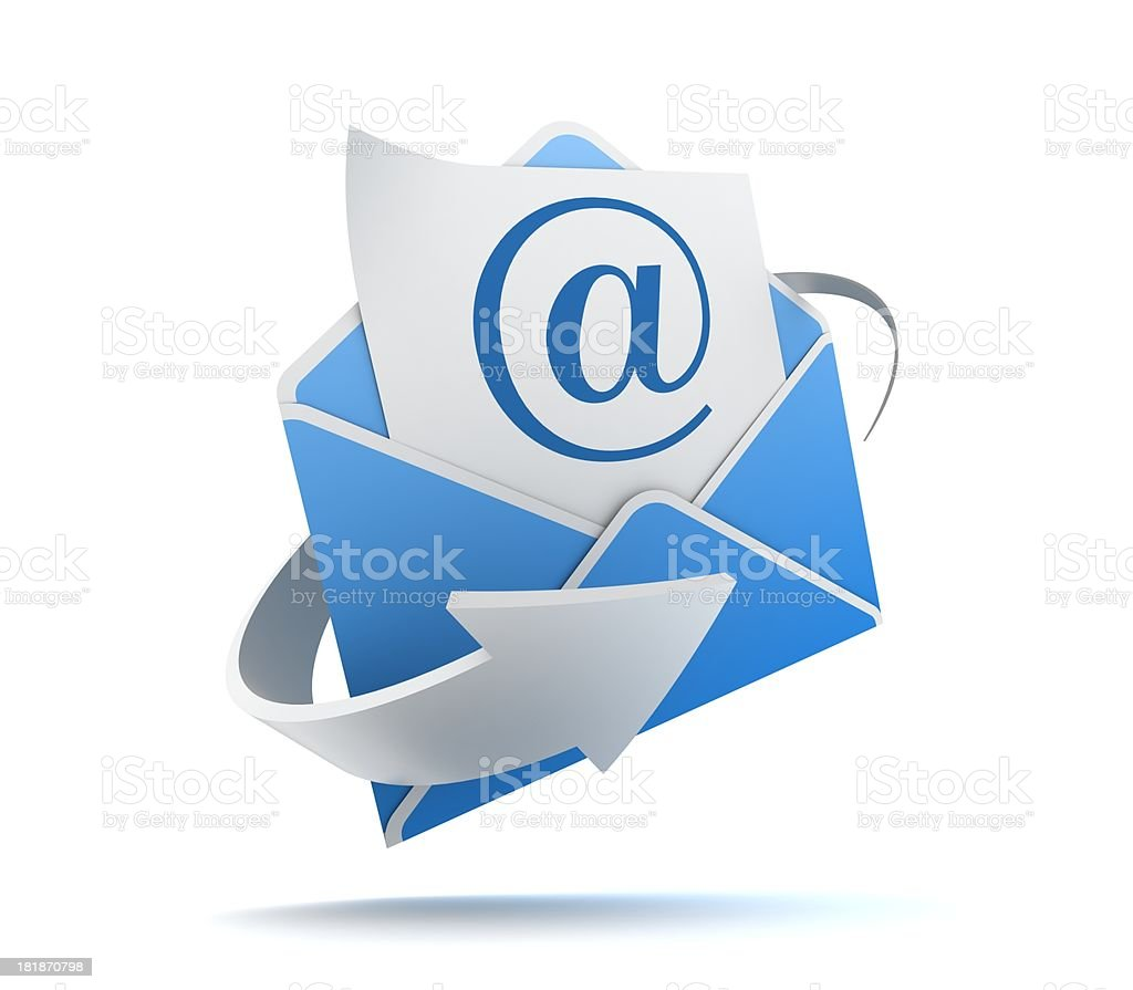 e-mail with envelope stock photo