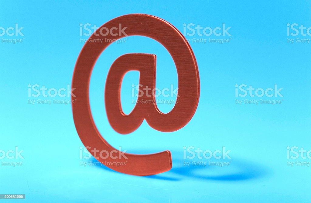 Emailzeichen stock photo