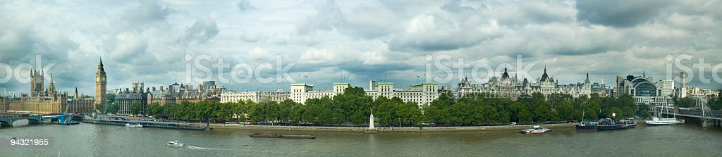 Embankment at Westminster, London royalty-free stock photo