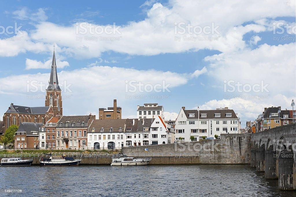 Embankment in Maastricht stock photo