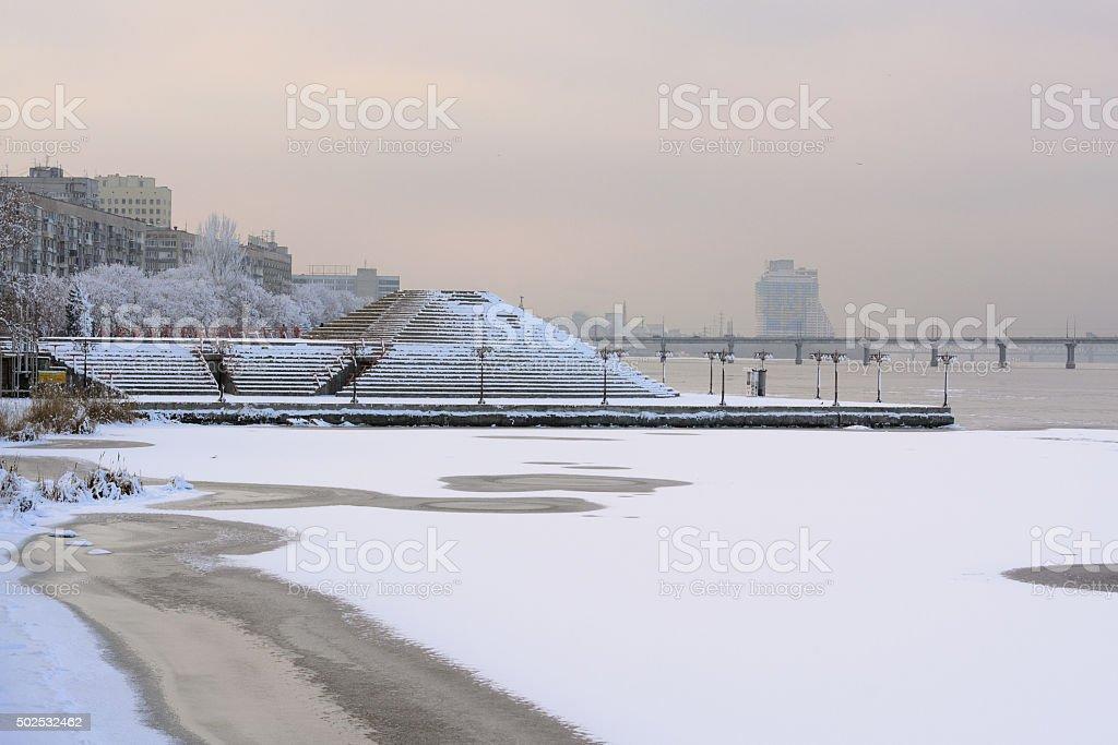 Terraplén de Dnepropetrovsk II foto de stock libre de derechos