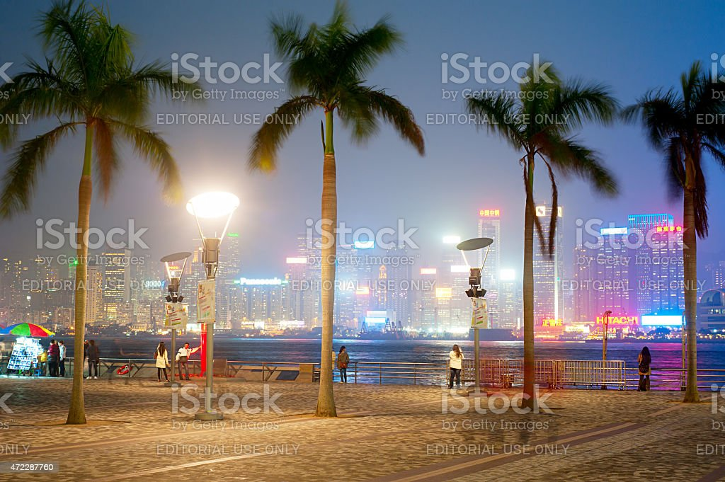 Embankment of Hong Kong stock photo