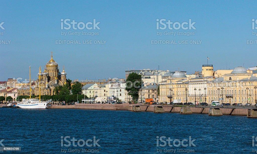 Embankment of Saint Petersburg stock photo