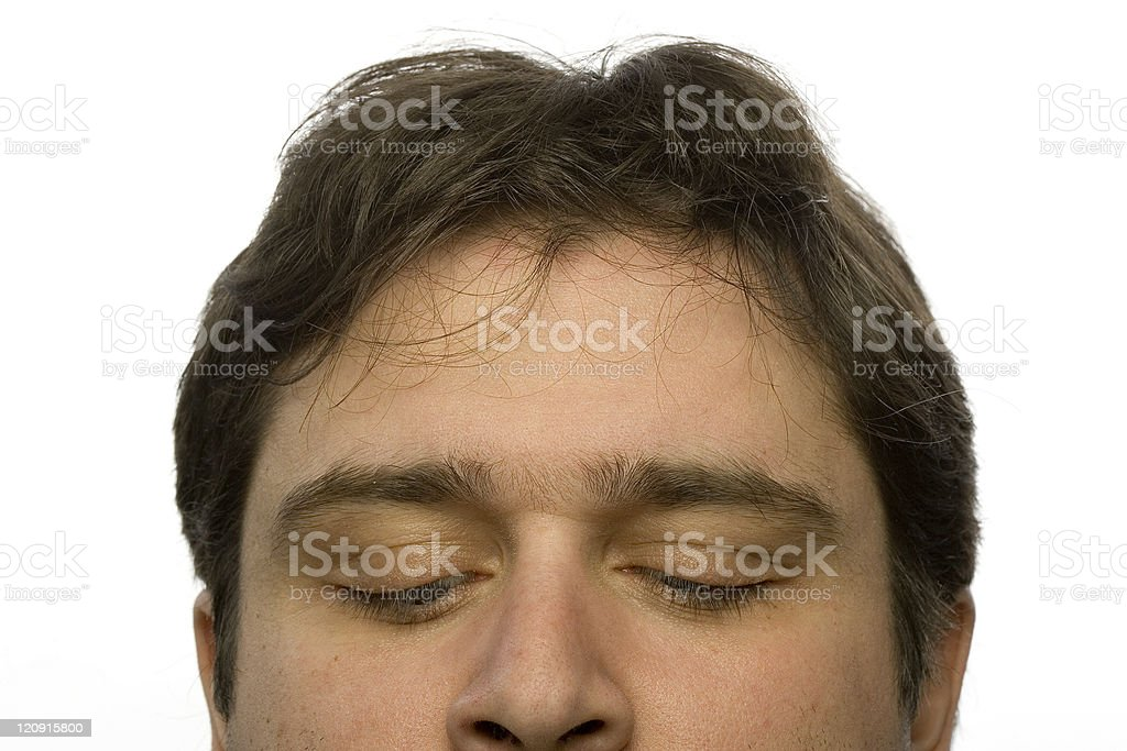 Embarassed look stock photo