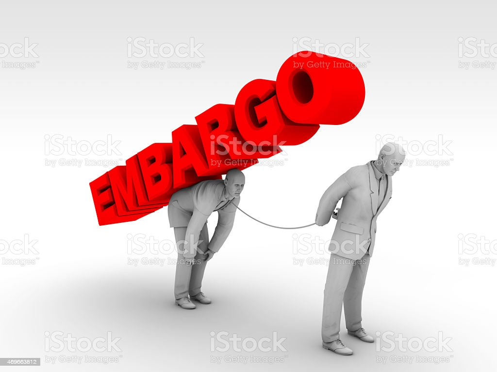 Embargo and Leaders stock photo