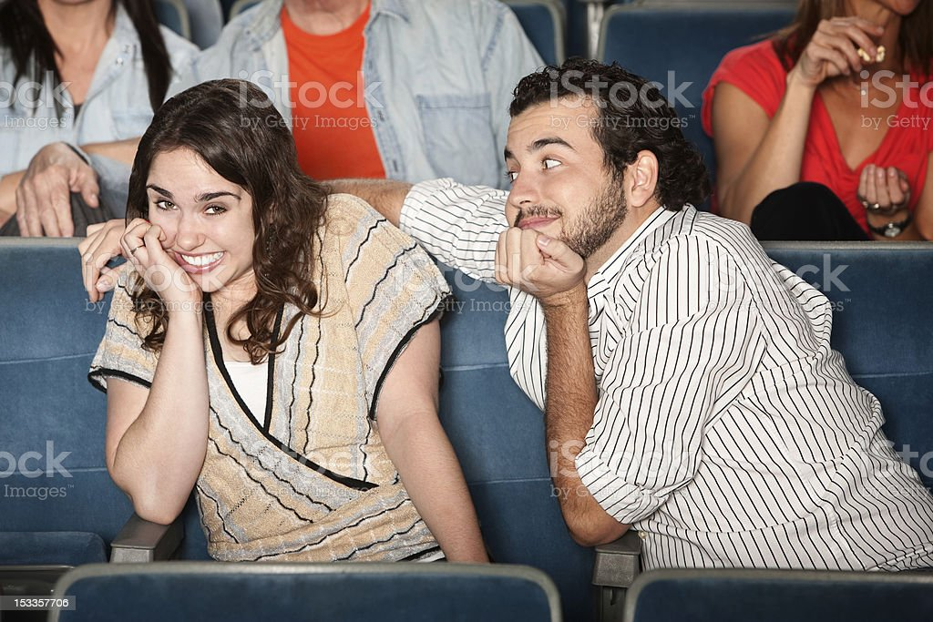 Embarrassed Girl in Theater royalty-free stock photo