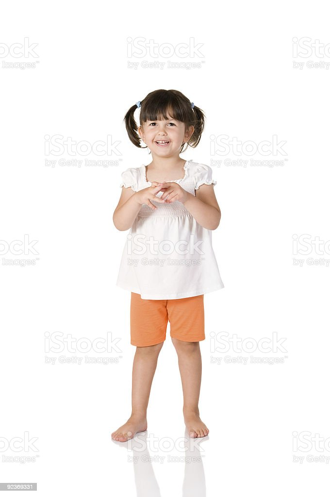 Embarrassed little girl royalty-free stock photo