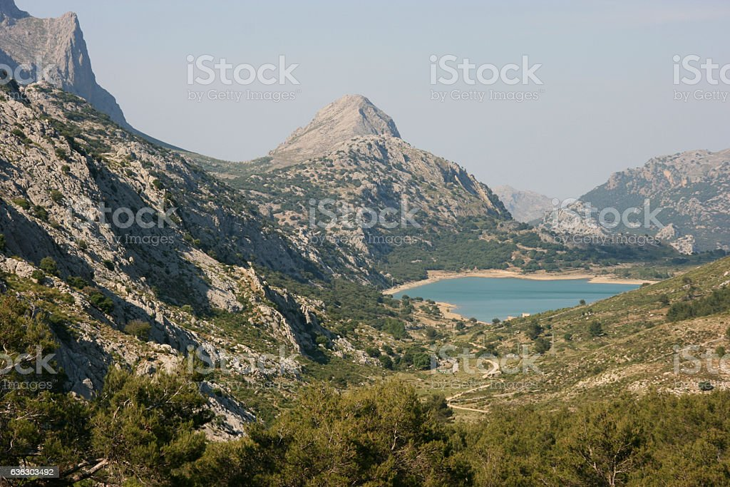 Embassament Cuber on Ruta Pedra en Seco hike, Mallorca, Spain stock photo