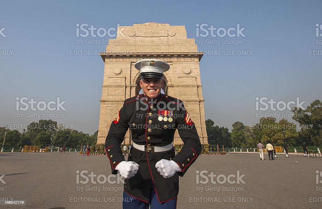 Embassy Guards India royalty-free stock photo