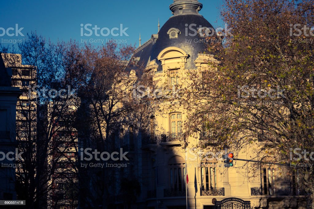 Embassy of France in Buenos Aires. stock photo