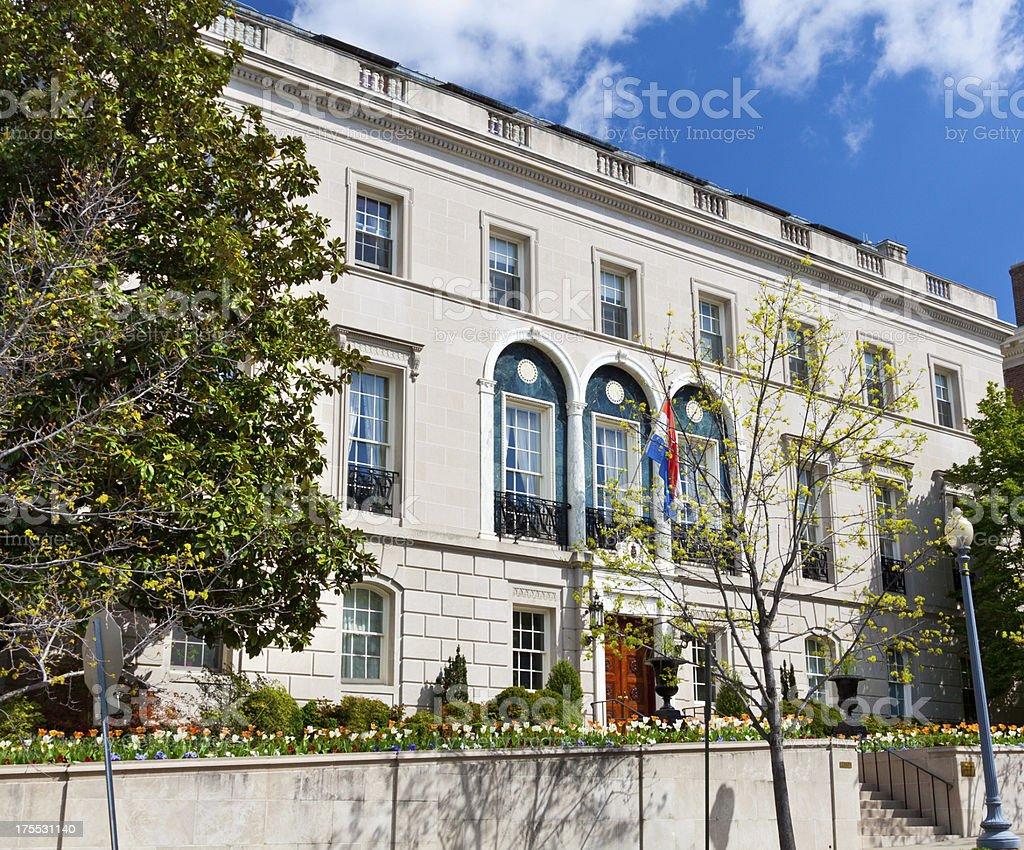 Embassy of Luxembourg, Washington DC royalty-free stock photo