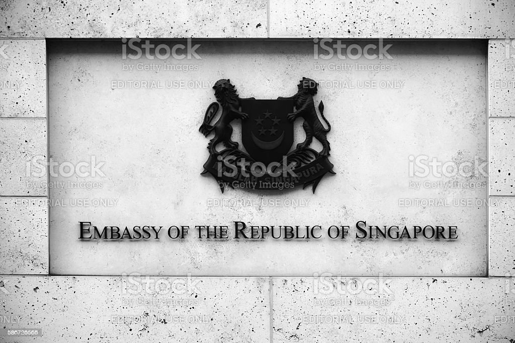 Embassy of the Republic of Singapore stock photo