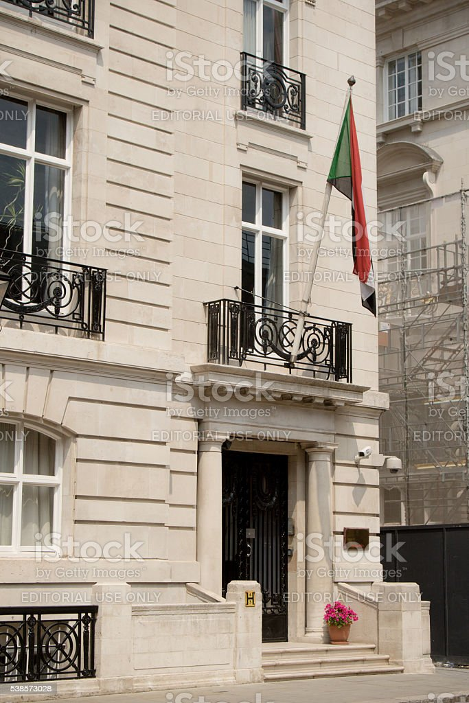 Embassy of The Republic of The Sudan, London, United Kingdom stock photo