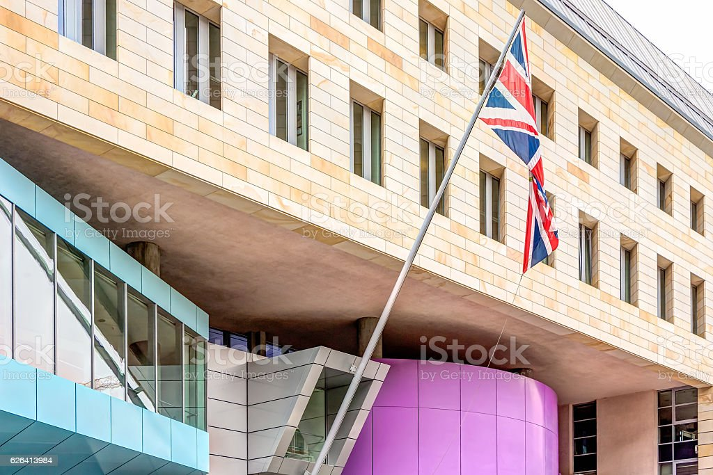 Embassy of the UK in Berlin stock photo