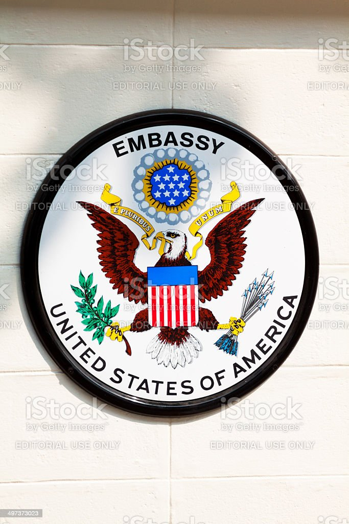 Embassy of USA stock photo