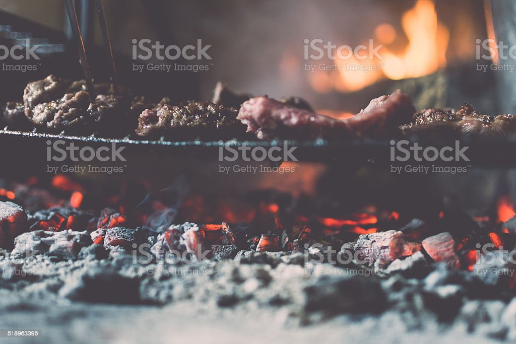 Ember and Meats stock photo