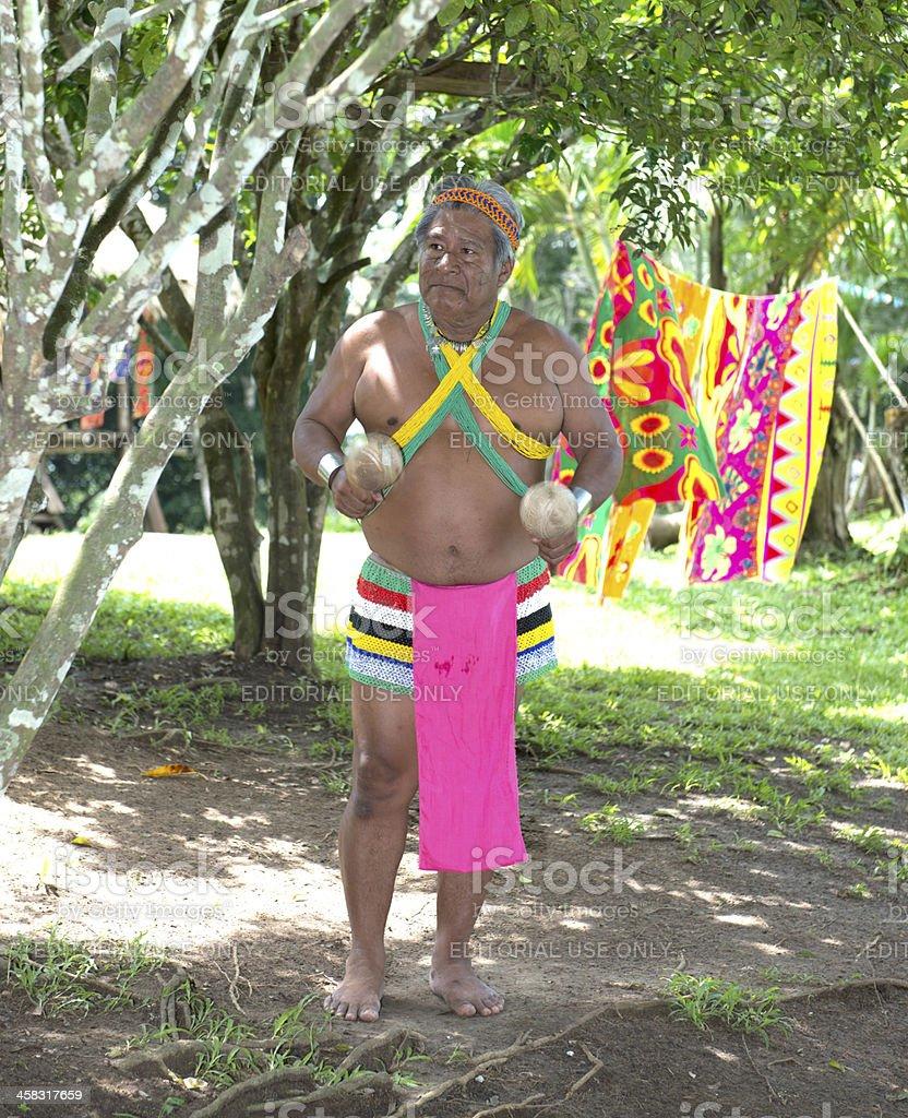 Embera Chief stock photo