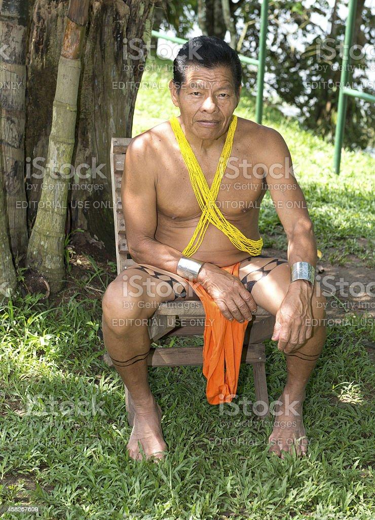 Embera resting stock photo
