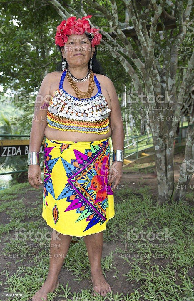 Embera woman stock photo
