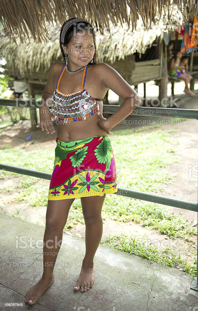 Embera  young woman stock photo
