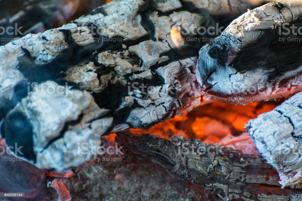 embers and flames stock photo