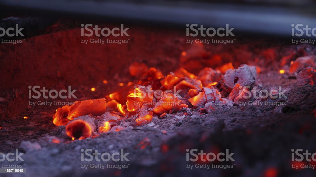 Embers fire royalty-free stock photo