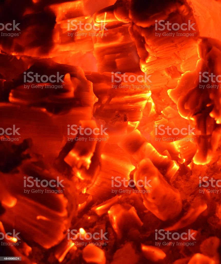 Embers in the Fire stock photo