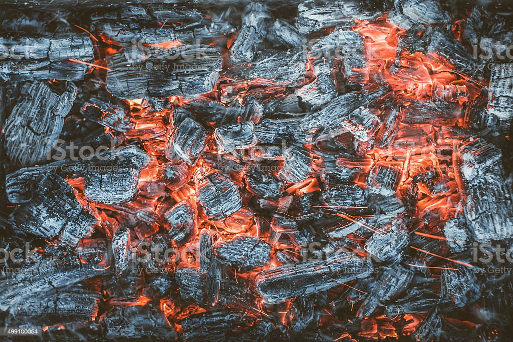 Embers. stock photo