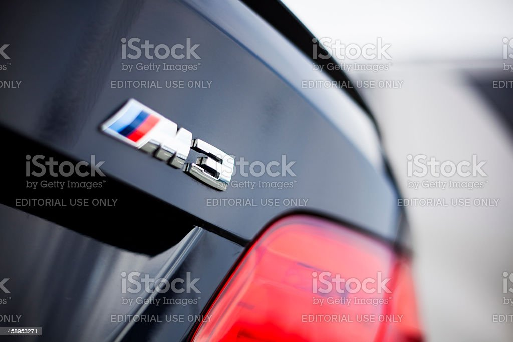 BMW M3 Emblem stock photo