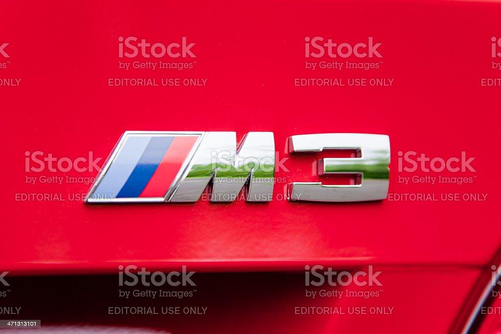 BMW M3 Emblem royalty-free stock photo