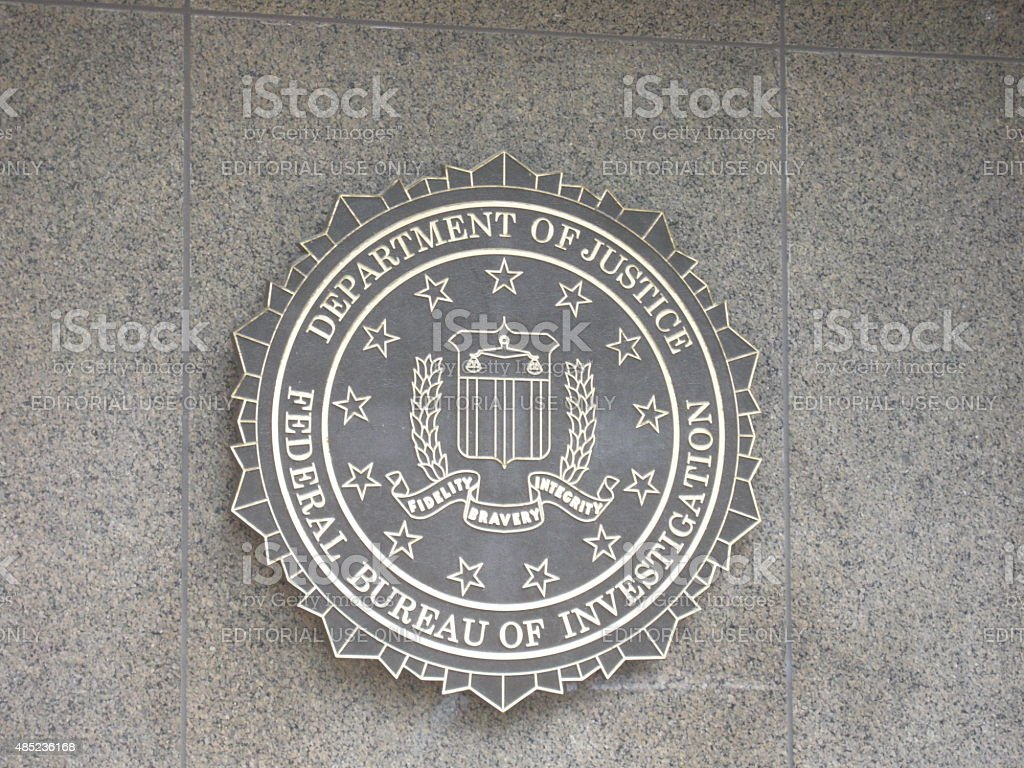 FBI emblem stock photo