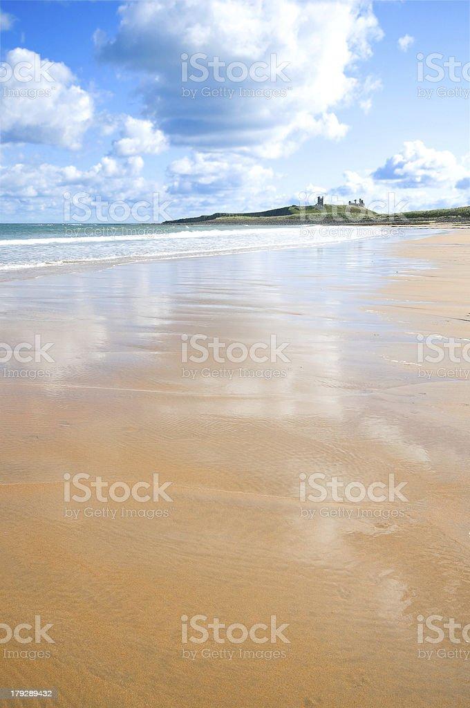 Embleton beach stock photo