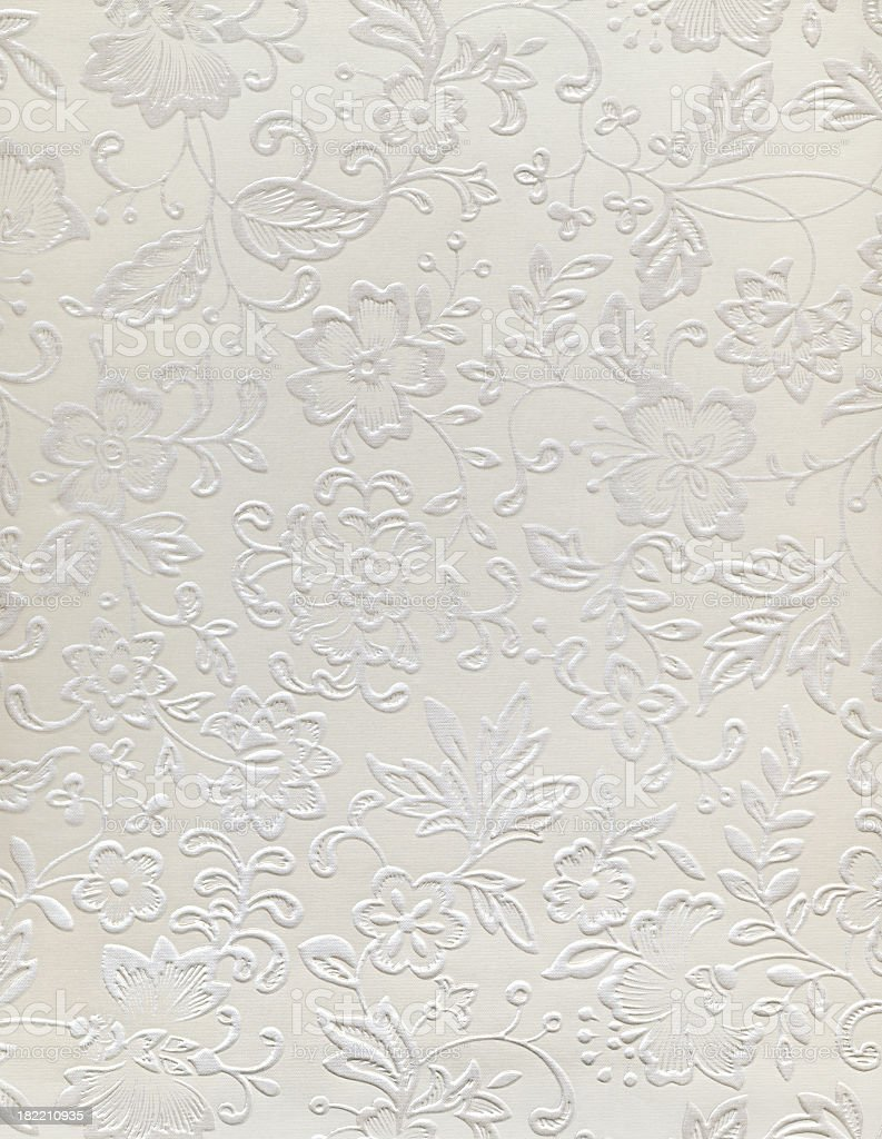 Embossed floral design of a wedding pattern royalty-free stock photo