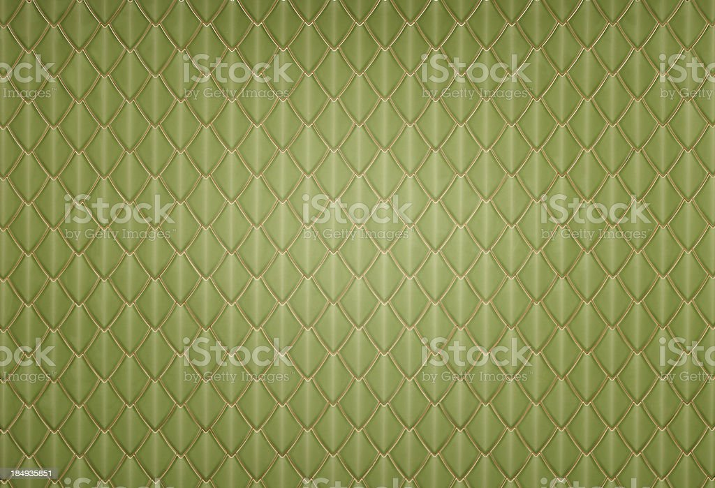 Embossed Green Tiles Wall royalty-free stock photo