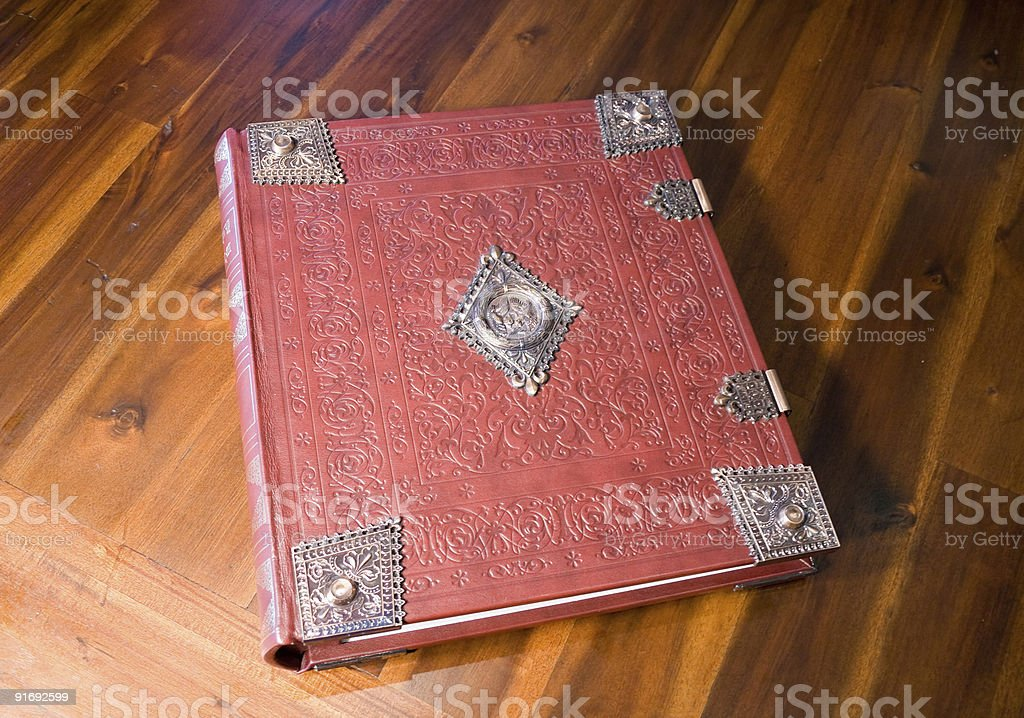 Embossed Leather Bound Book royalty-free stock photo