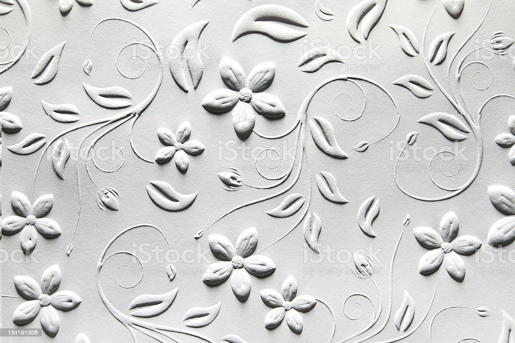 Embossed Paper with Tradtional Design stock photo