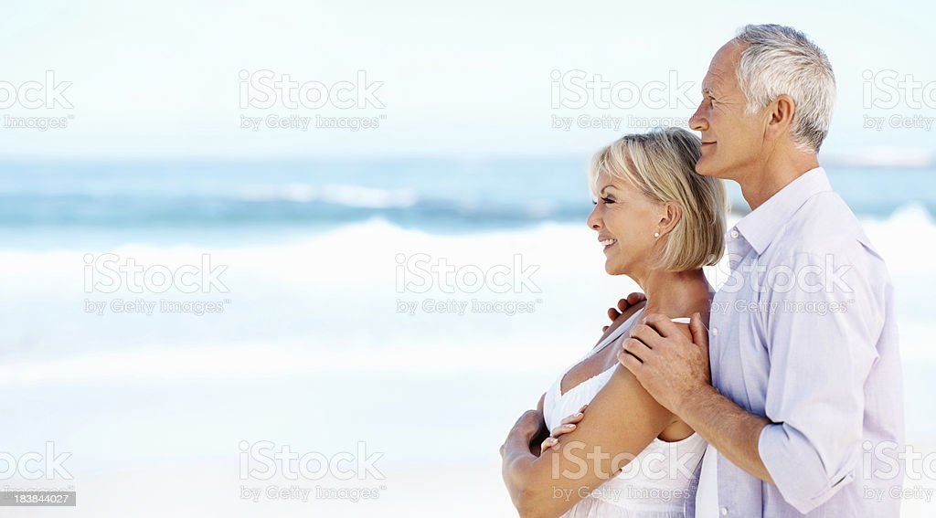 Embracing couple outdoors royalty-free stock photo