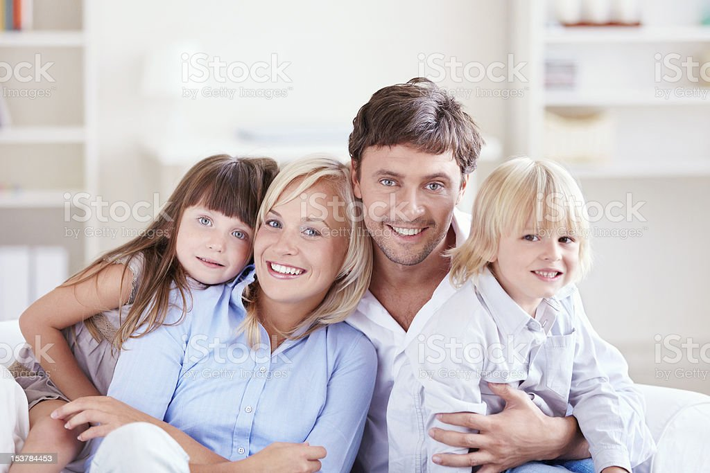 Embracing family royalty-free stock photo