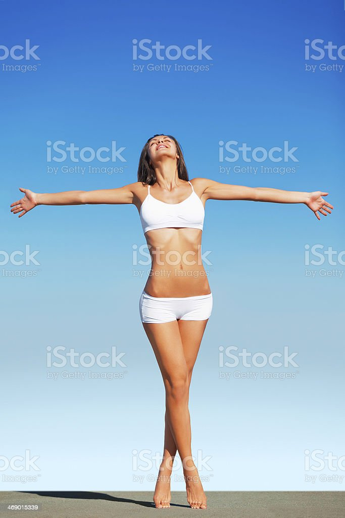Embracing freedom stock photo