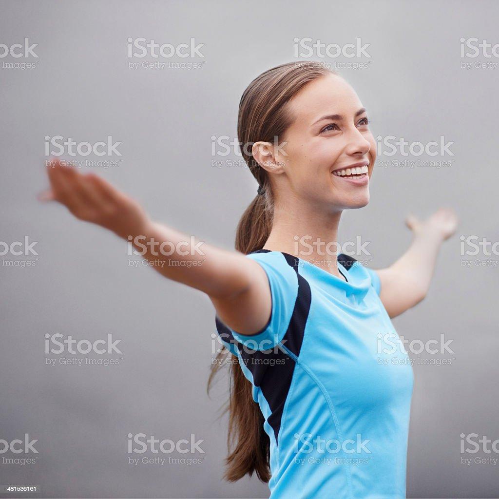 Embracing positivity stock photo