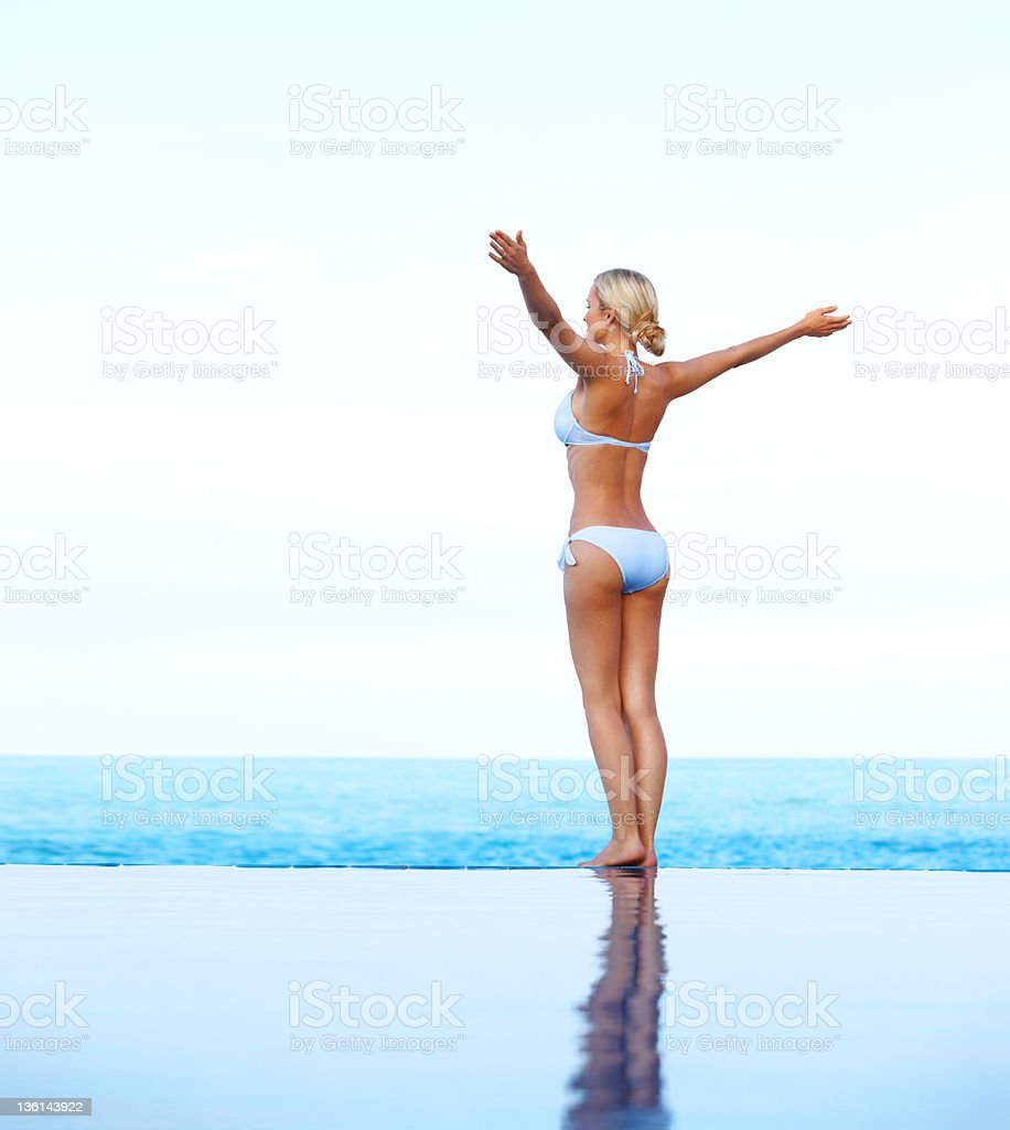 Embracing relaxation royalty-free stock photo