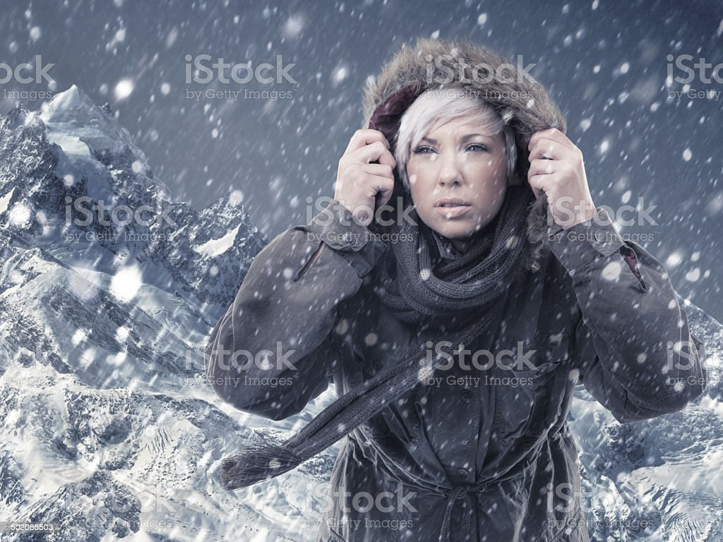 Embracing the extreme royalty-free stock photo