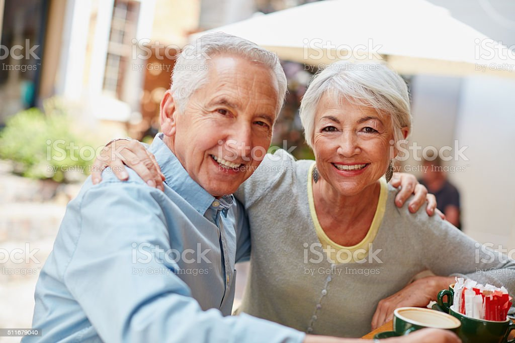 Embracing the freedom of the golden years stock photo