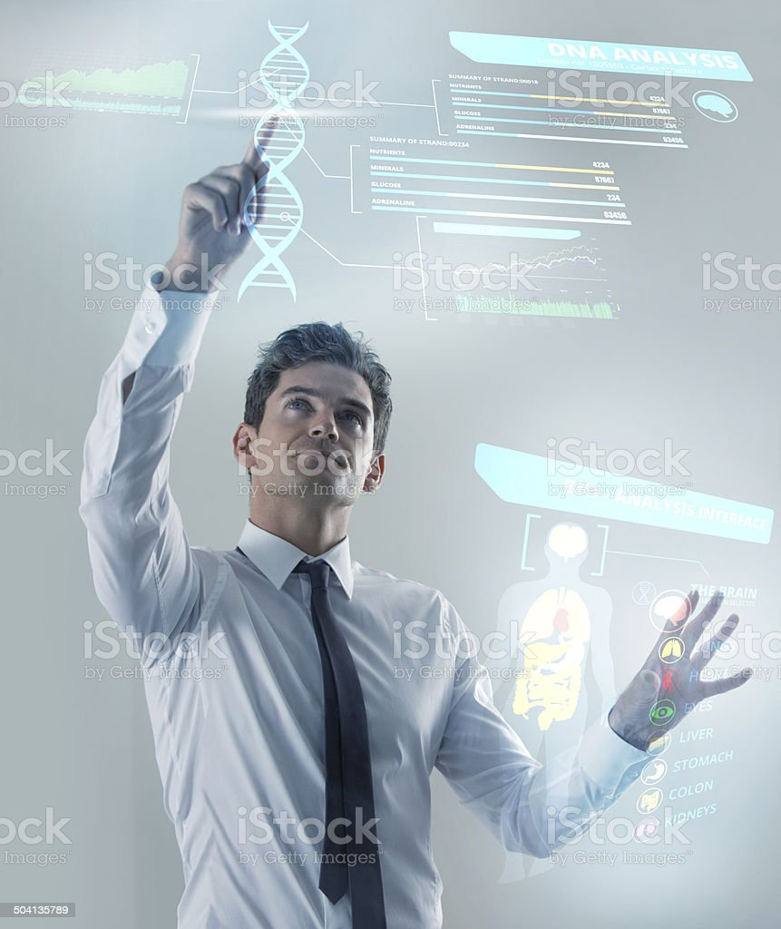 Embracing the future stock photo