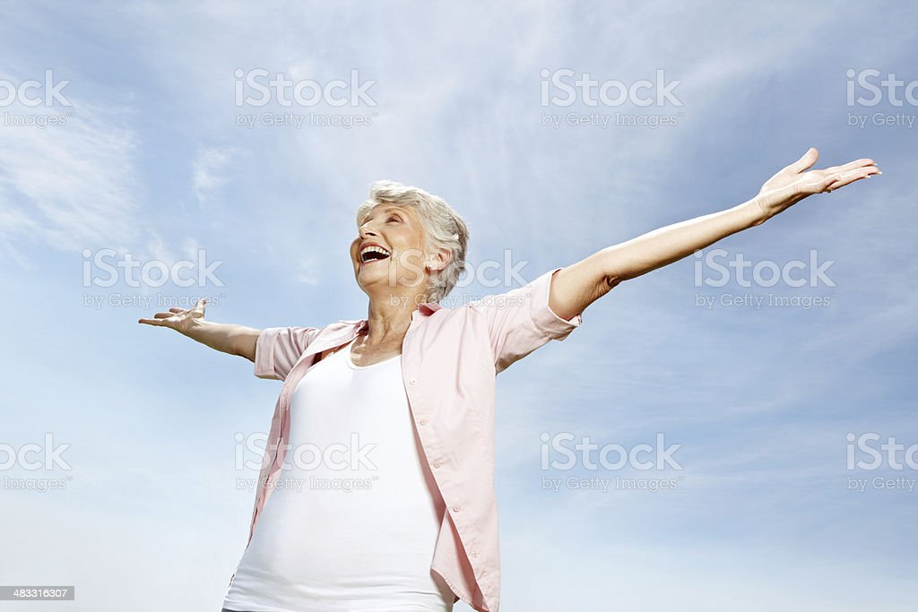 Embracing the world! royalty-free stock photo