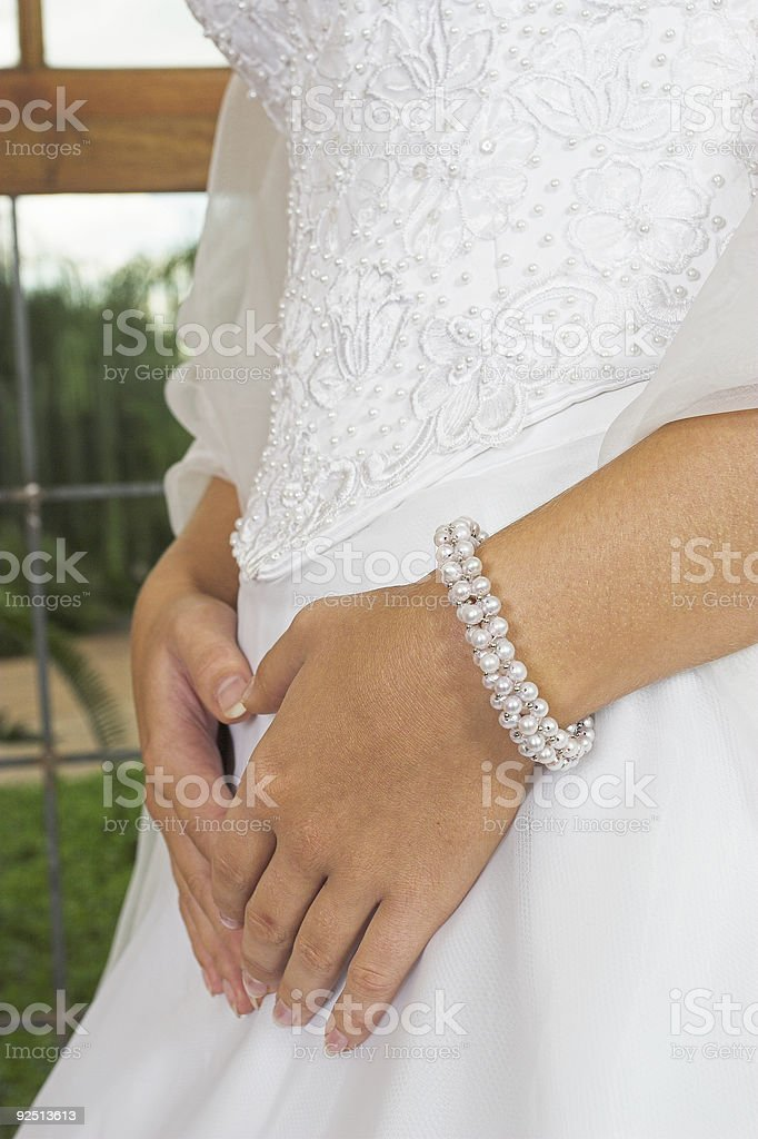 Embroidered bodice royalty-free stock photo