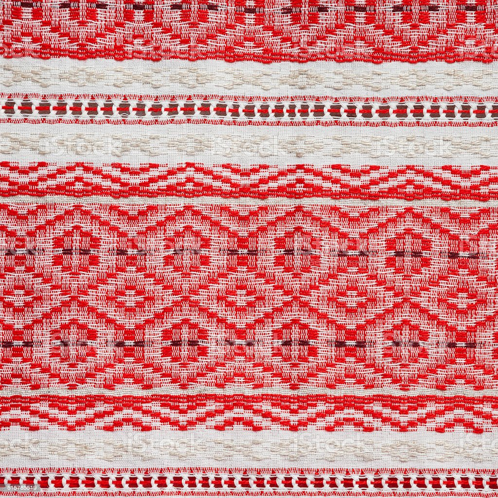 embroidered ethnic Belarus pattern stock photo