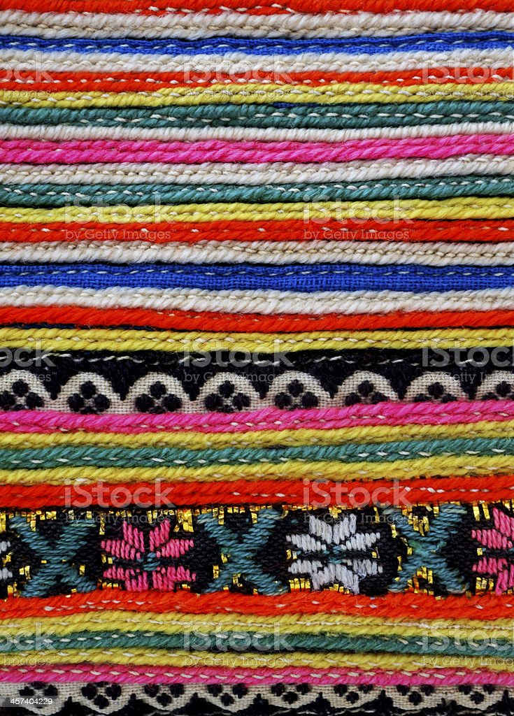 embroidered pattern stock photo