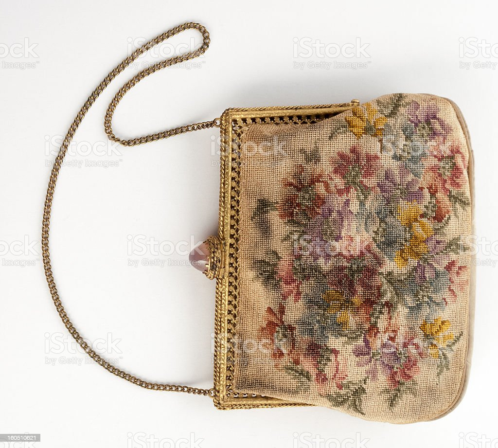 Embroidered Purse royalty-free stock photo